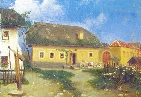 Stifterův rodný dům na Fischerově obraze z roku 1923