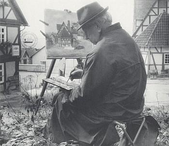Při malování ve Wolfhagenu 1970