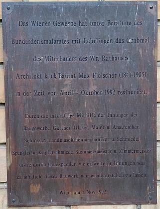 Hrobka Maxe Fleischera na vídeňském ústředním hřbitově