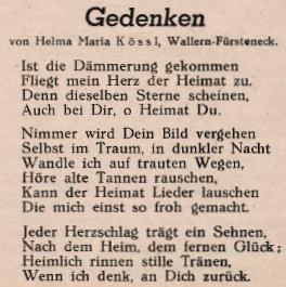Její báseň, která vyšla v krajanském časopise vroce 1949