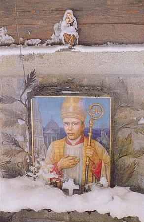 Její obraz biskupa Neumanna v kapli na Hochsteinu ve sněhu