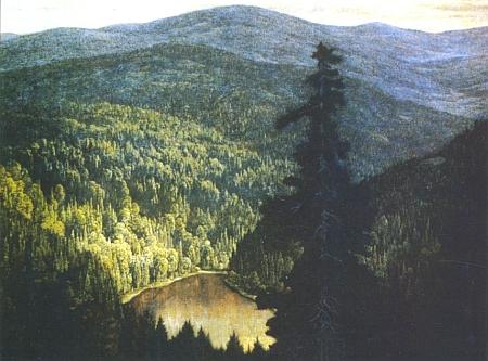 Jiný Flügelův obraz zachycuje Roklanské jezero