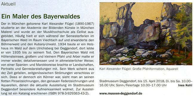 """O jejím otci jako """"malíři Bavorského lesa"""""""