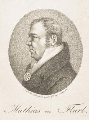 Na rytině Georga Friedricha Vogela z roku 1848