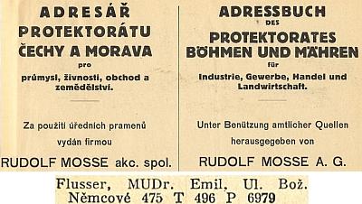 Ještě na stránkách adresáře protektorátu Čechy a Morava zroku 1939 je uveden v seznamu českobudějovickýchlékařů