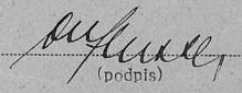 """Jeho """"doktorský""""podpis nasčítacím archu"""