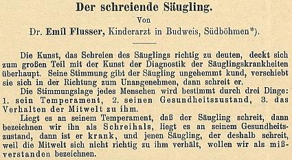 Obálka a úvodní odstavce jeho práce (1928) z fondu Národní lékařské knihovny v Praze