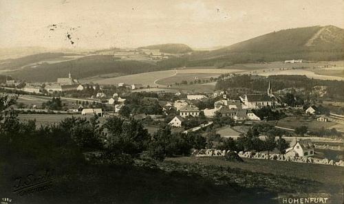 Vyšší Brod na snímku Josefa Seidela z roku jeho narození 1924