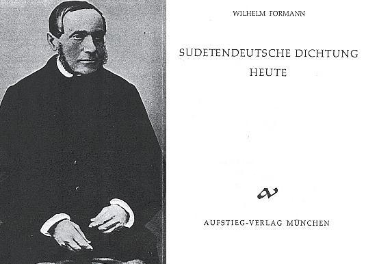 Titulní list (1961) jeho knihy vydané v mnichovském nakladatelství Aufstieg, na frontispis poslední podobizna Stiftera