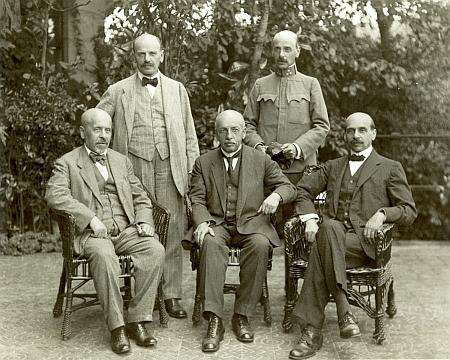 Rodinní představitelé firmy Ignaz Spiro & Söhner na snímku Josefa Seidela