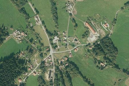 Leptač na leteckých snímcích z let 1952 a 2011