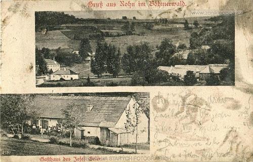 Leptač na staré pohlednici