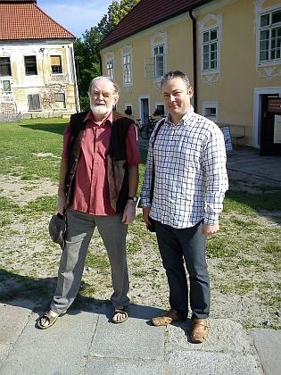 S autorem Kohoutího kříže Janem Marešem vevyšebrodském klášteře