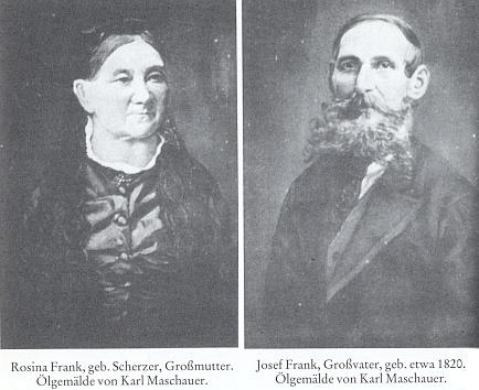 Jeho prarodiče Rosina a Josef Frankovi