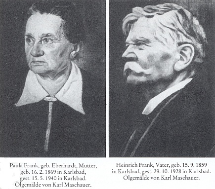 Rodiče Paula a Heinrich Frankovi