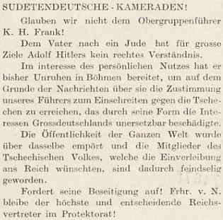 """Pozoruhodná """"sudetoněmecká"""" pomluva na jeho bratra, údajně Žida po otci - původce podvrhu či fámy již nejspíš zůstane neznámý"""