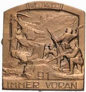 Odznak 91. pěšího pluku, v jehož řadách pravděpodobně spolu s jinými Šumavany bojoval