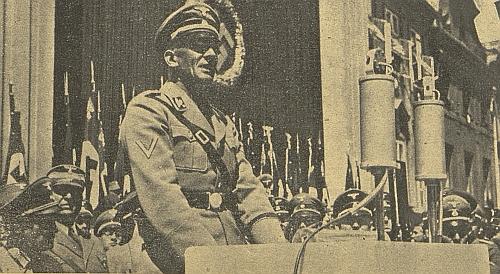 """Při projevu na """"Krajském dni NSDAP"""" 3. června 1939 v Českých Budějovicích..."""