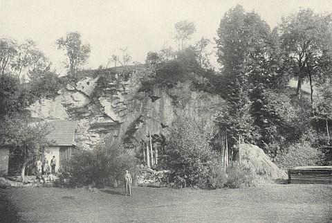 Tady je zachycen před archeologickým nalezištěm pod skalním převisem u Dobrkovic (Dobrkovická jeskyně) na snímku v knize (1936), jejíž obálka je vlevo
