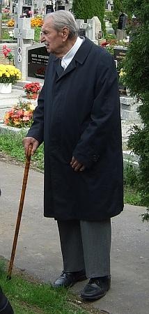 Na pohřbu Waltera Piverky v Českém Krumlově 25. září 2015