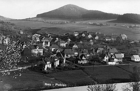Nové Spolí na pohlednici Franze Seidela