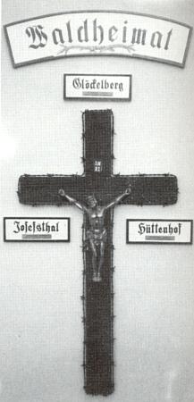 """""""Waldheimatkreuz"""" popsaný v jednom zjeho textů"""