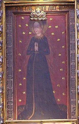 Obraz Obraz Panny Marie Budějovické na oltáři kostela (viz i Michael Schichelius a Joseph Watzl)