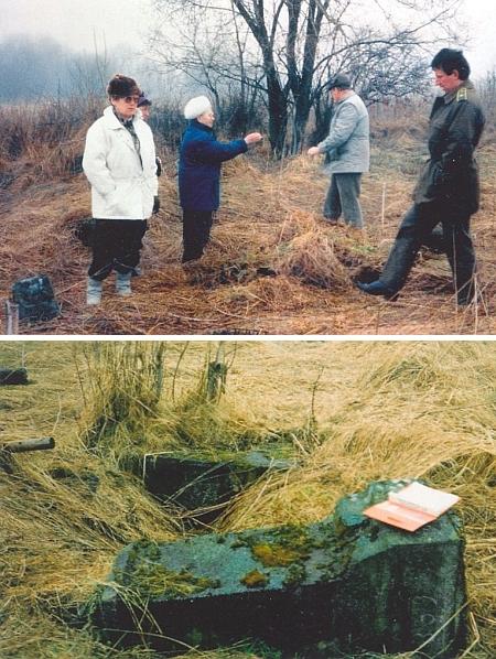 Procházka místy někdejšího hřbitova v Jablonci s důstojníkem tehdy ještě československé armády v dubnu roku 1992