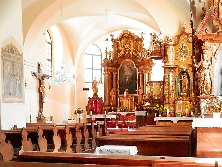 Děkanský kostel sv. Markéty v Horní Plané, kde mohl být v dubnu 1832 pokřtěn