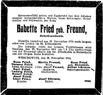 ... a parte v pražském německém listu