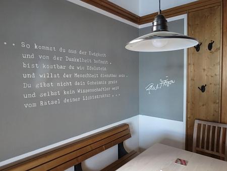 V myslivně na Březníku, která slouží jako restaurace s historickou expozicí a informačním centrem, je mu věnován jeden ze stolů