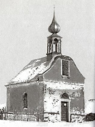 Zaniklá kaple v jeho rodném Dobroníně