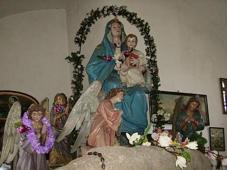 Socha Madony na Svatém Kameni (Maria Schnee) dnes...
