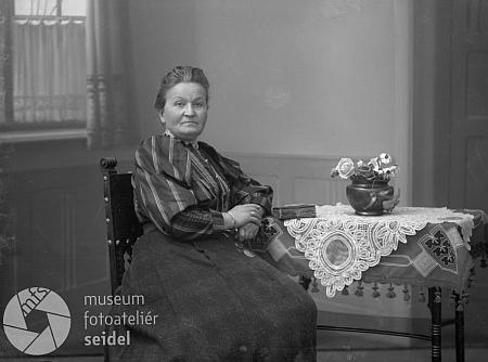 Může to být ona na snímku fotoateliéru Seidel, adresovaném v květnu 1910 na jméno Frinke do Hořic na Šumavě?