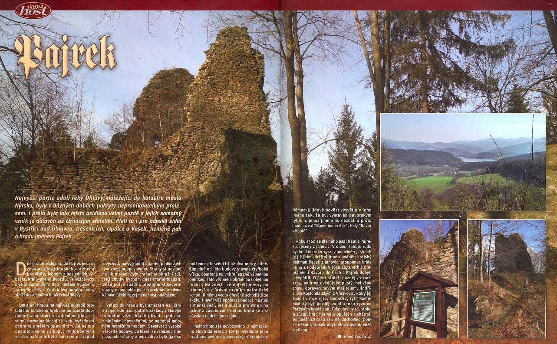 Článek Hany Voděrové o hradě Pajrek v časopise, který rediguje