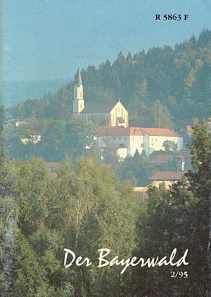 Barevná obálka časopisu Der Bayerwald, kam přispíval, se scenérií kostela a zámku vHohenwarth