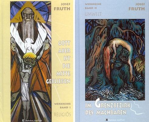 Obálky (2010) prvých dvou svazků ediční řady věnované jeho dílu (Atelierkreis Josef Fruth, Fürsteneck)