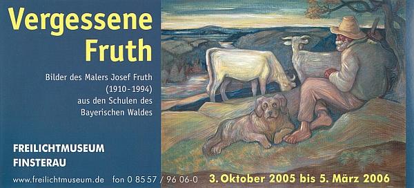 Pozvánka k jeho výstavě v šumavském skanzenu ve Finsterau při české hranici