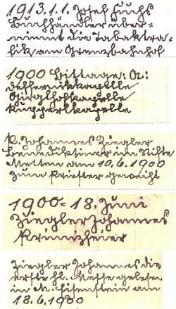 Pět ukázek z jeho rodácké kartotéky