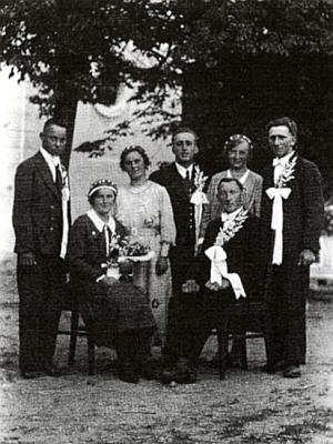 Jeho svatba roku 1935 v Záblatí
