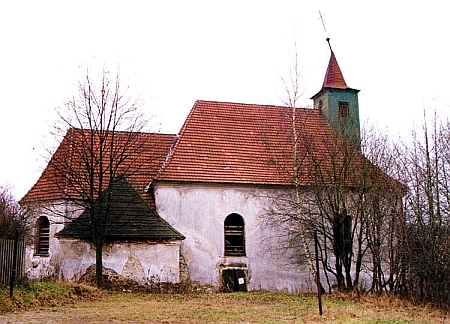 Kostel sv. Linharta v Pohorské Vsi před rekonstrukcí auž opravený na snímku zroku 2013