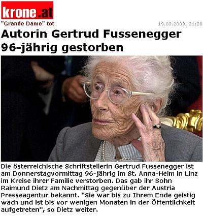 """Záhlaví jejího nekrologu v """"krone.at"""", internetovém portálu rakouského listu """"Kronen Zeitung"""""""
