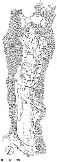 Hrad Hus (terénní náčrt)