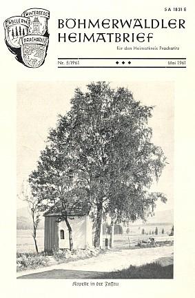 Obálka krajanského měsíčníku s fotografií k jeho článku o kapli v Dolním Cazově