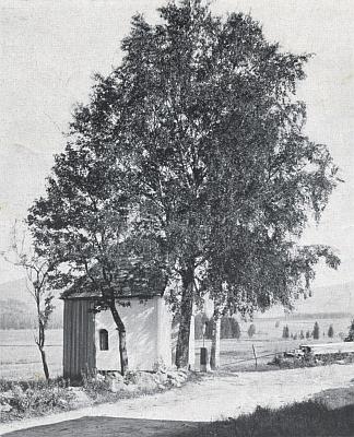 Kaple v Dolním Cazově na staré fotografii
