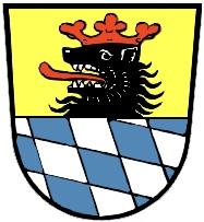 Znak bavorského města Schrobenhausen, ke kterému patří Hörzhausen, kde zemřel a je pochován