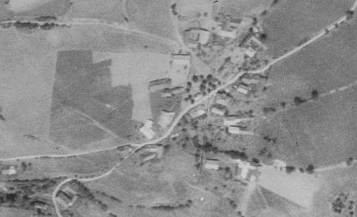 Krejčovice na leteckých snímcích z let 1952 a 2008