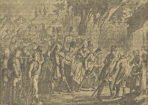 Smrt Theodora Körnera v srpnu roku 1813 na soudobé kresbě