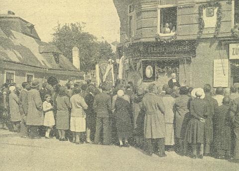 Odhalení pamětní desky Josefu Ganglovi ve Vídni