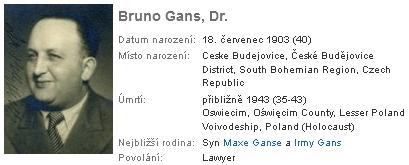 Jeho syn Bruno, který zahynul v Osvětimi